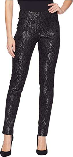 Lace Front Ponte Ankle Pants
