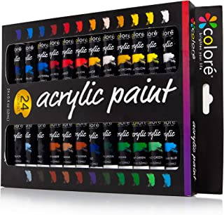 Colore Acrylic Paint Set - Perfect For Painting Canvas, Wood