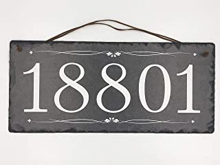 """Beautifully Handcrafted and Customizable Slate Home Address Plaque (16""""x10"""" 12"""