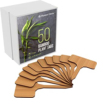 50 Bamboo Plant Labels in Gift Box (T-Type)   Plant Tags   Cheese Markers