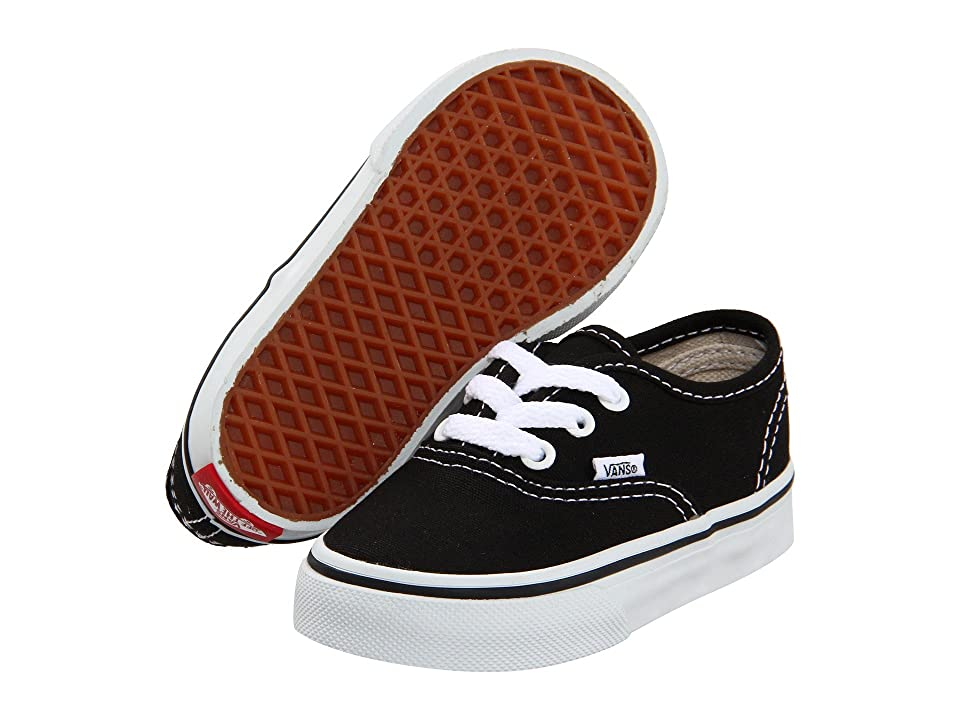 Vans Kids Authentic Core (Toddler) (Black) Kids Shoes