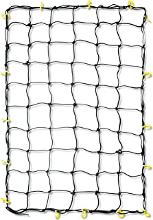 Tooluxe 50969L Adjustable Cargo Net, 36 x 60-Inch | 16 Sturdy Nylon Hooks | Ideal for Moving, Camping, and Trucks