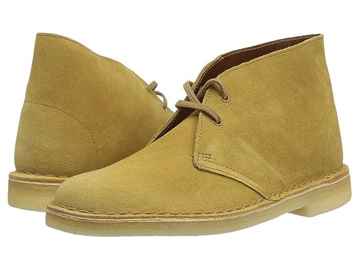 Vintage Boots- Buy Winter Retro Boots Clarks Desert Boot Oak Suede Womens Lace-up Boots $129.95 AT vintagedancer.com
