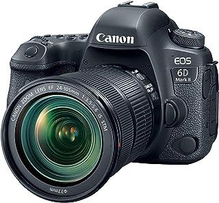 Canon EOS 6D MK II - Cámara digital réflex de 26.2 MP (pantalla táctil de 3.0 Wifi Bluetooth Dual Pixel CMOS AF vídeos time-lapse en 4K) negro - kit cuerpo con objetivo EF 24-105 IS STM