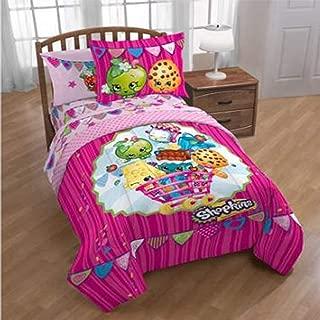 Shopkins 4 Piece Bedding Full Sheet Set   Fitted   Flat   2 Design Pillowcases