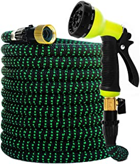 Garden Hose Expandable Hose - Heavy Duty Flexible Leakproof Hose-10-Pattern High-Pressure Water Spray Nozzle & Bag & Plast...