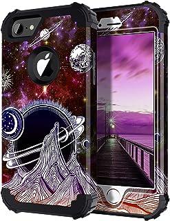 Hekodonk Compatible iPhone 8 / iPhone 7 Case,Galaxy Stars Heavy Duty Hybrid Sturdy Armor High Impact Shockproof Hard PC + TPU Fullbody Protective Cover for Apple iPhone 8 / iPhone 7 (Purple Galaxy)