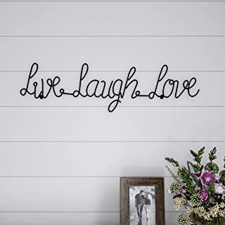 Lavish Home Metal Live Laugh Love Cursive Cutout Sign-3D Word Art Home Accent Decor-Perfect for Modern Rustic or Vintage Farmhouse Style