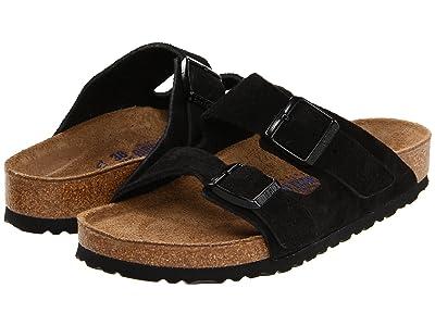 Birkenstock Arizona Soft Footbed Suede (Unisex) (Black Suede) Sandals