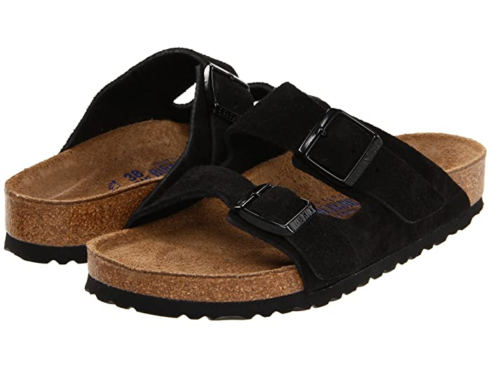 Birkenstock  Arizona Soft Footbed - Suede (Unisex) (Black Suede) Sandals
