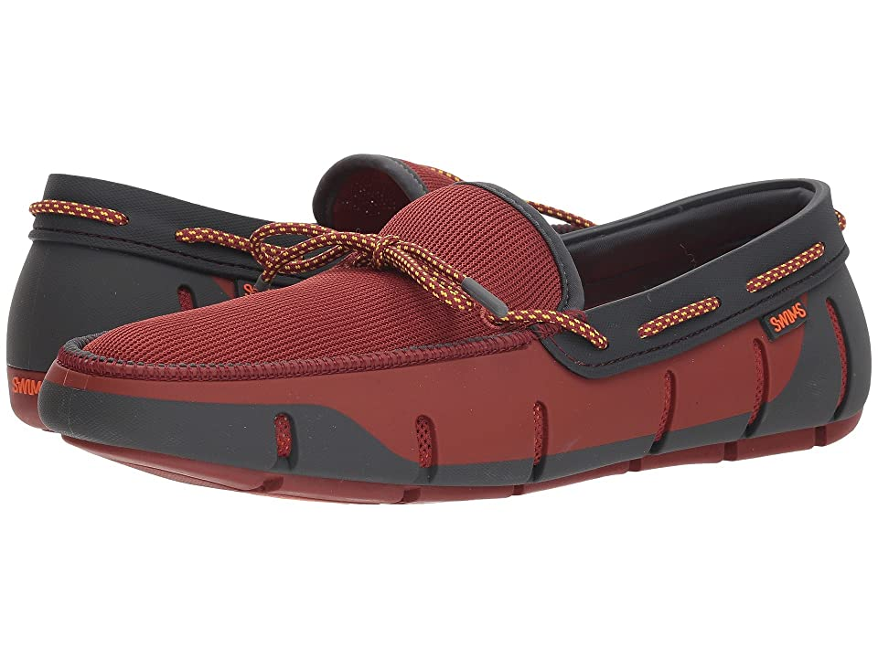 SWIMS Stride Lace Loafer (Red Lacquer/Dark Gray) Men