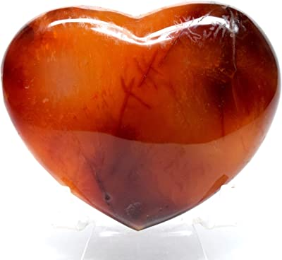 TIGERS EYE Heart Crystal Carving Healing Crystals and Stones E0263 Home Decor