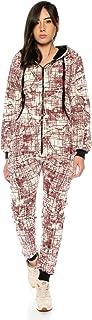 Crazy Age Jumpsuit kombinezon abstrakcyjny ciepły i przytulny nowy wygląd