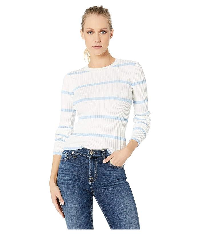 Bishop + Young Serena Crop Sweater (Perry Blue Stripe) Women