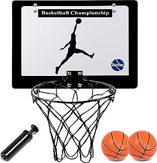 AUTENS Mini Canestro da Basket da Camera e Esterno per Bambini e Adulti, Tabellone da Basket da Appendere alla Porta, Set ...