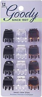 Goody 1942509 Classics 3 Prong Mini Claw Clip, Multi-Colour, 12 Units
