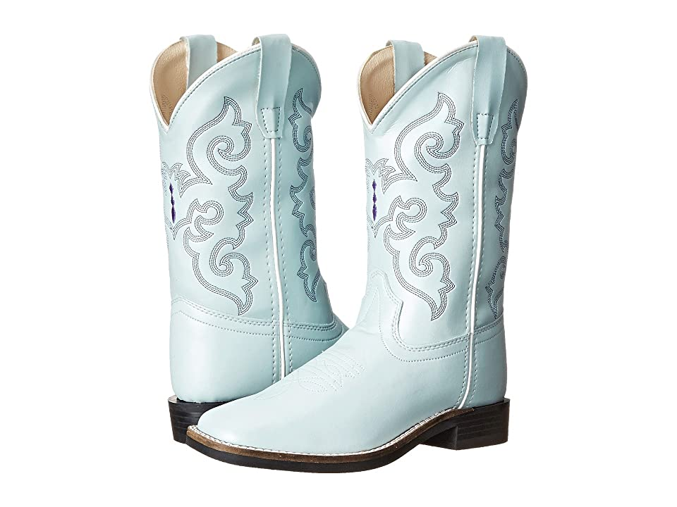 Old West Kids Boots Leatherette Western Boots (Toddler/Little Kid) (Leatherette Sky Blue) Cowboy Boots