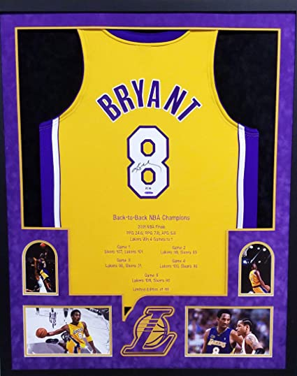 Kobe Bryant Los Angeles Lakers Autograph Signed Framed Authentic ...