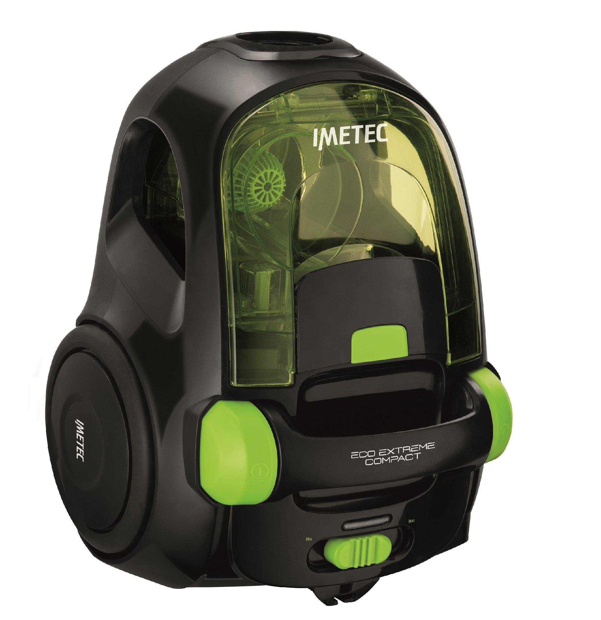 IMETEC Eco Extreme Compact - Aspirador, clase A, 700 W, tecnología ciclónica, color negro y verde: Amazon.es: Hogar