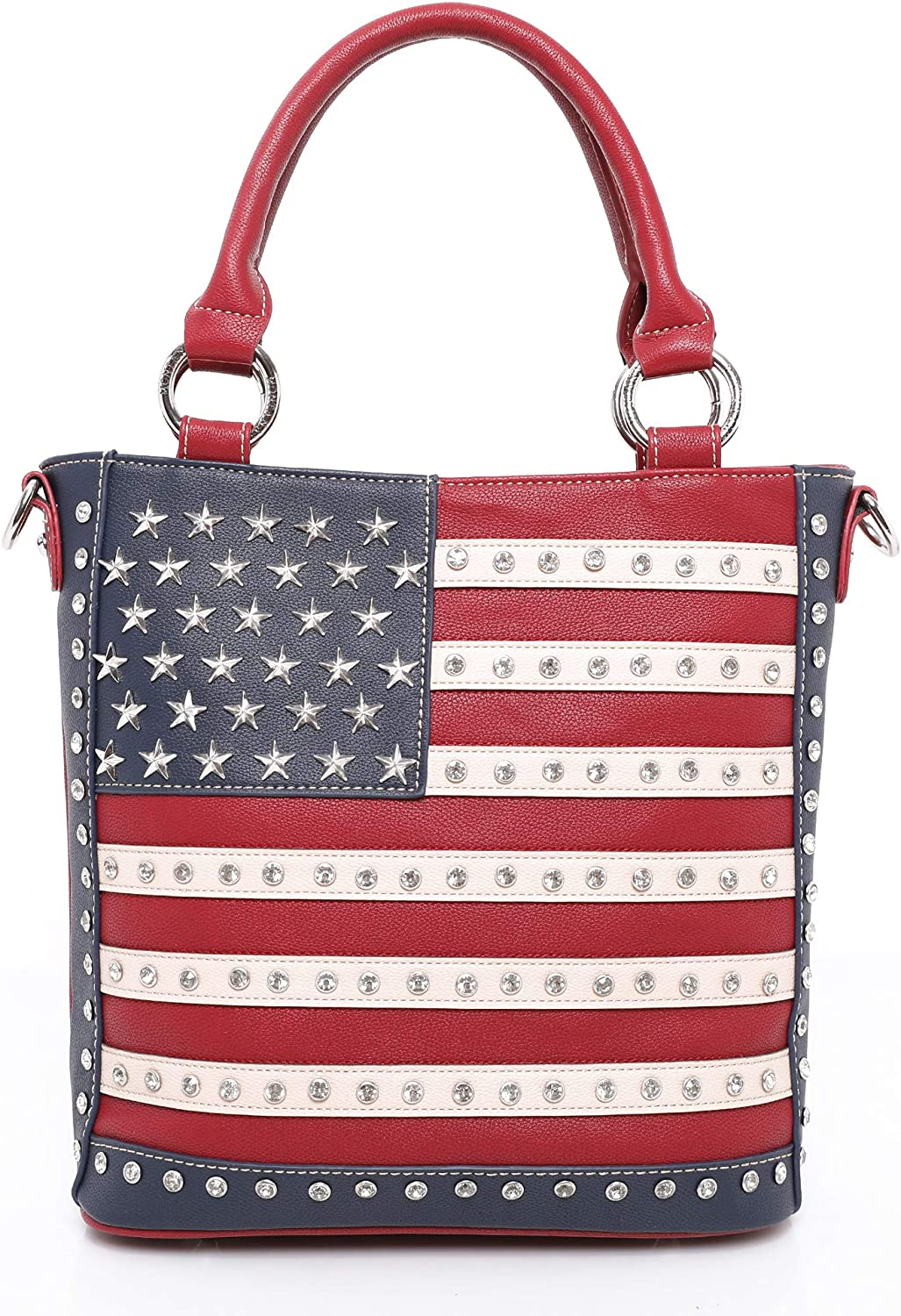 Fixed price for sale American Ranking TOP8 Flag Handbags and Wallets Women St Purses Patriotic for