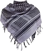 PLO Pali Baumwolltuch Halstuch Kopftuch Palituch Pentagramm weiß schwarz