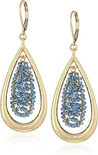 Kenneth Cole Woven Tear Drop Earrings, Navy, One Size