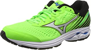 Mizuno Australia Men's Wave Rider 22 Running Shoes, Green Gecko/Silver/Brilliant Blue, 9 US