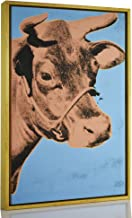 Berkin Arts Framed Andy Warhol Giclee Canvas Print Paintings Poster Reproduction Fine Art Home Decor (Cow)