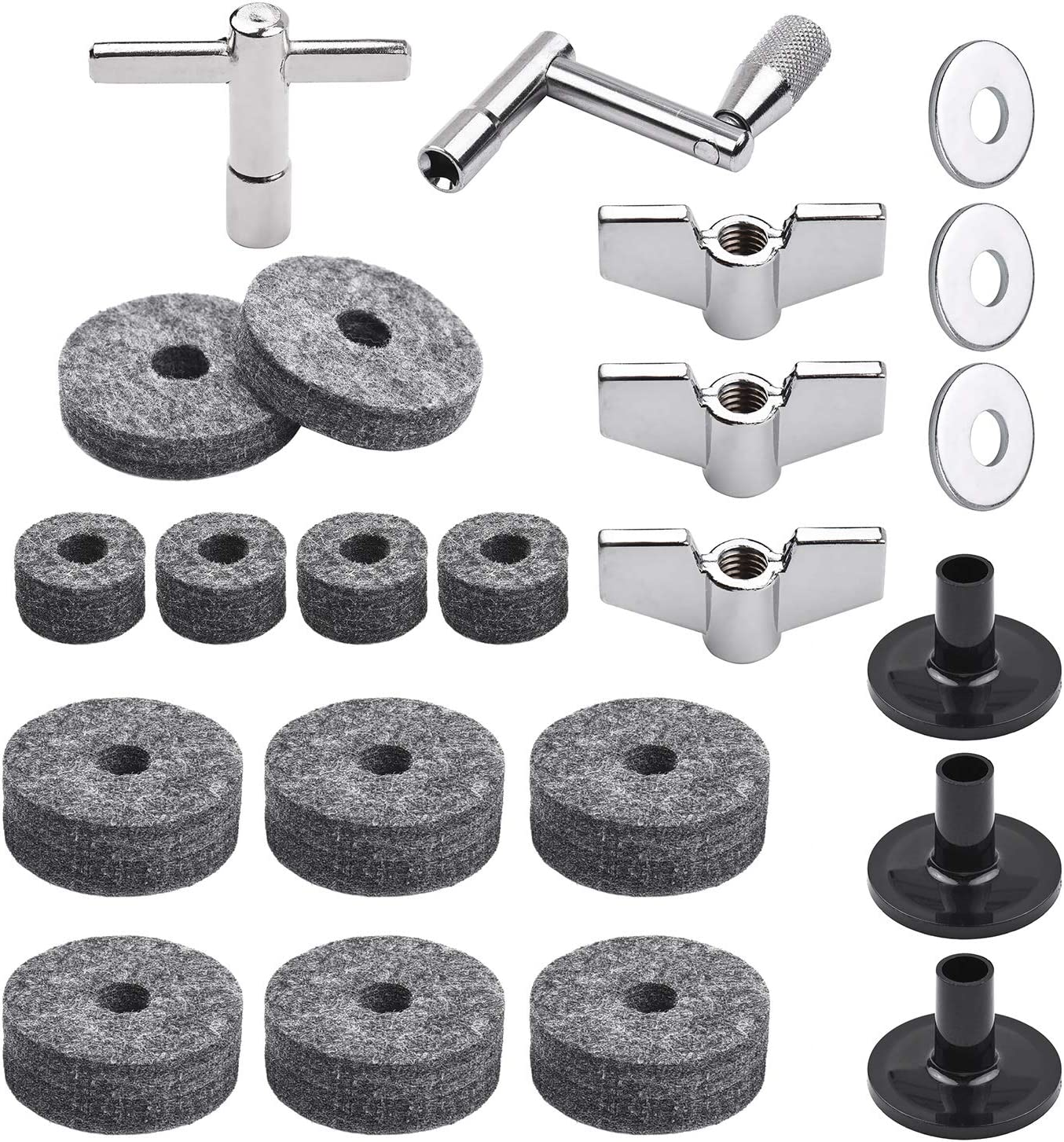 23pcs Cymbal Max 47% OFF Replacement Accessories Parts Stan with Drum Ultra-Cheap Deals