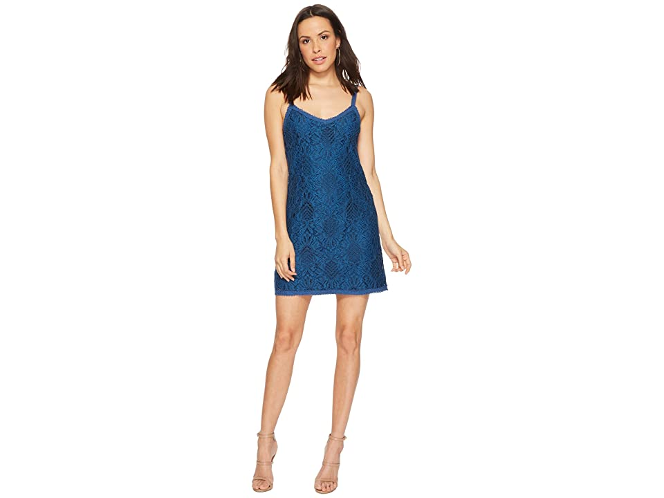 BB Dakota Kinsey Lace Slip Dress (Atlantic Blue) Women