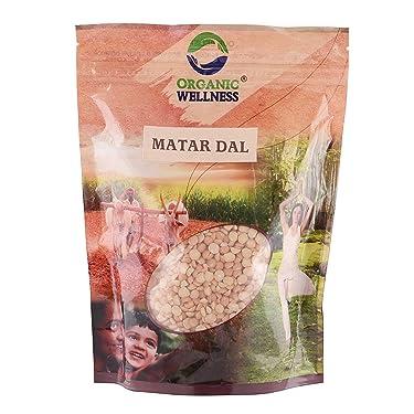 Organic Wellness White Matar Dal Split 450 Gram Pack
