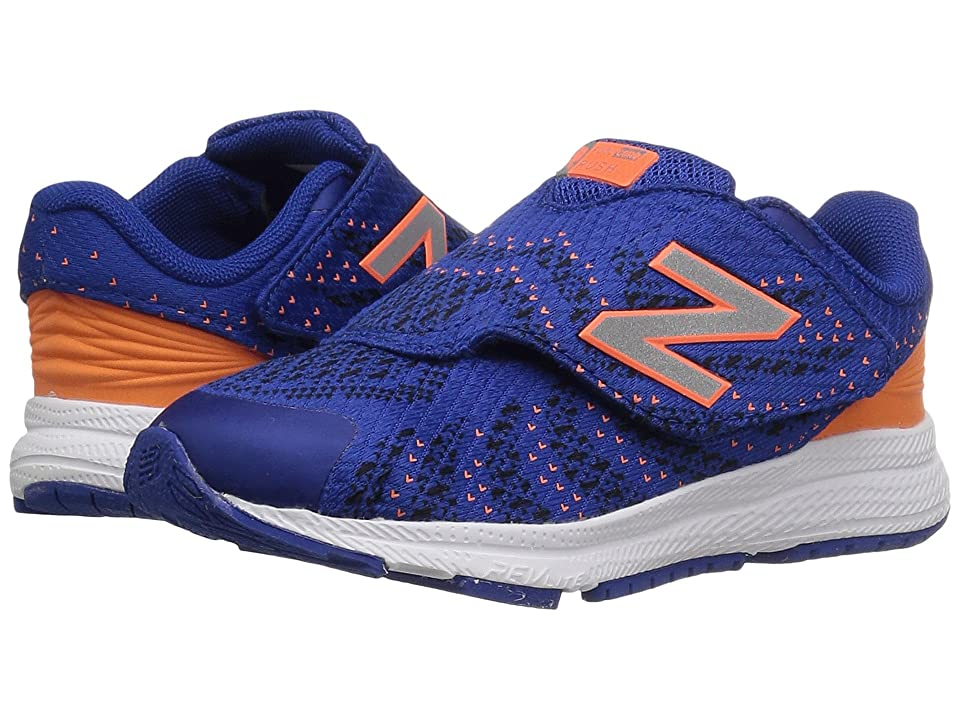 New Balance Kids Hook and Loop FuelCore Rush v3 (Infant/Toddler) (Blue/Orange) Boys Shoes