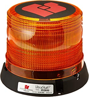 Federal Signal 252650-02SC Ultrastar Amber Dome Class 1 LED Beacon Permanent Mount