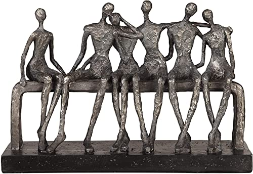 "2021 Uttermost wholesale sale 18991 Camaraderie - 15"" Figurine, Aged Silver/Textured Aged Black Finish sale"