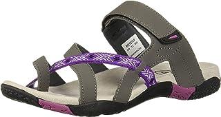 Propet Women's Eleri Slide Sandal, Grey/Fuschia, 5.5 X-Wide