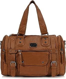 Scarleton Satchel Handbag for Women, Ultra Soft Washed Vegan Leather Crossbody Bag, Shoulder Bag, Tote Purse, H1485