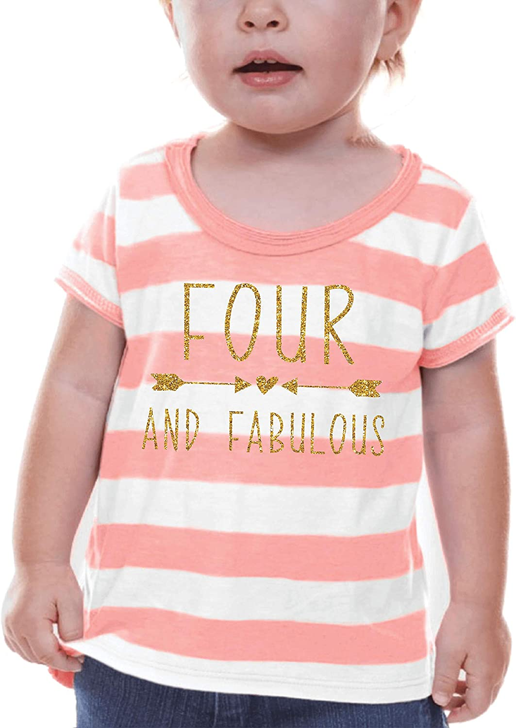 Bump and Beyond Designs Fourth Birthday Shirt Girl Fourth Birthday Outfit