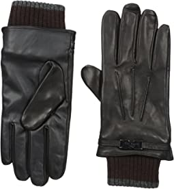 Ted Baker Quiff Ribbed Cuff Leather Gloves