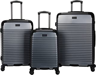 Kenneth Cole Reaction Scott's Corner Hardside Expandable 8-Wheel Spinner TSA Lock Travel Suitcase, KCNY Plaza Metallic Sto...