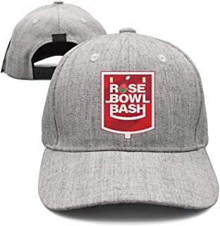 Baseball Cap for Men and Women,Rose Bowl Bash Tournament of Roses Design and Adjustable Travel Sunscreen Hat Outdoors