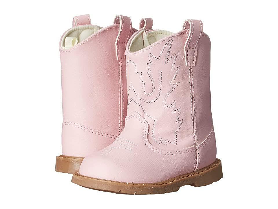 Baby Deer Western Boot (Infant/Toddler) (Pink) Cowboy Boots