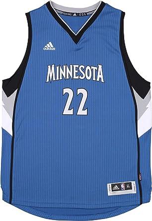adidas Minnesota Timberwolves Andrew Wiggins #22 NBA Big Boys Youth Swingman Road Jersey, Blue