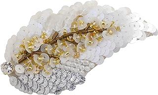 MIYUKI ビーズキット ビーズ刺しゅう針で楽しむ オートクチュールビーズ刺繍キット ホワイトリーフブローチ HCK-002
