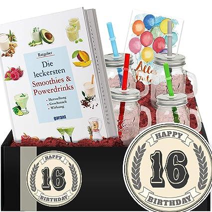 Geschenkidee 16 Geburtstag Diy Set Powerdrinks Geschenke 16 Geburtstag Amazon De Lebensmittel Getränke