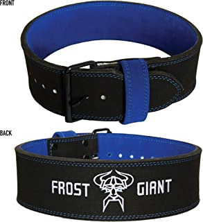 Frost Giant Fitness Leather Powerlifting Belt for Weight Lifting, Deadlift and Squat Back Support for Men and Women, Reduce Injury and Maximize Performance, Adjustable 10mm Brace for Comfortable