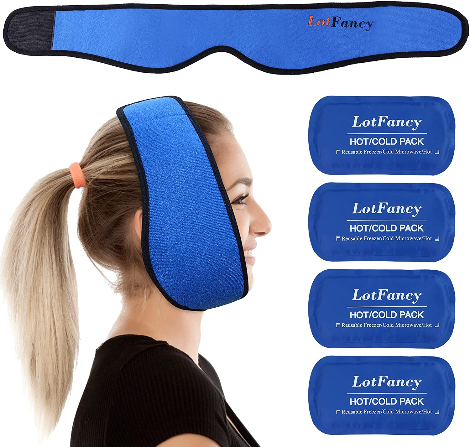LotFancy Gel Ice Tampa Mall Pack with A surprise price is realized Wrap TMJ Relief Pain Tee for Wisdom