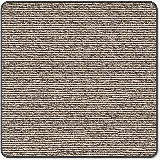 House, Home and More Skid-Resistant Carpet Indoor Area Rug Floor Mat - Black Ripple - 3 Feet X 3 Feet