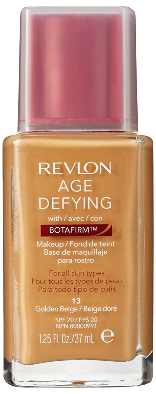 説教する貫通するアプトREVLON AGE DEFYING NORMAL/COMBINATION SKIN MAKEUP WITH BOTAFIRM #13 GOLDEN BEIGE