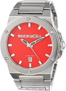 Rockwell Men's CM113 Commander Stainless Steel Silver and RED Watch