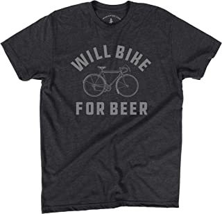 Will Bike for Beer   Fun T-Shirt for Bike Lovers   Funny Men's Gift Idea for Dad, Husband, BoyfriendPrinted in USA